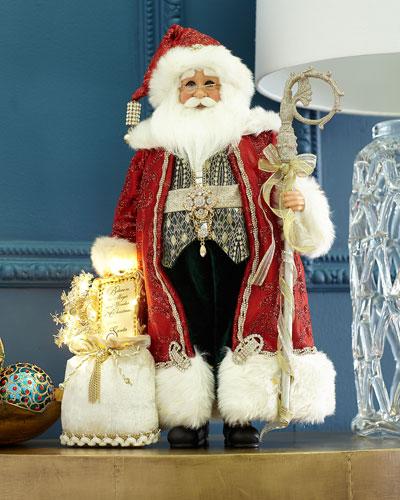 Lighted Jewel Traditional Elegance Santa