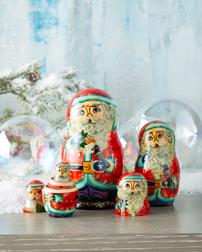 Birdy Santa Nesting Dolls  Set of 5