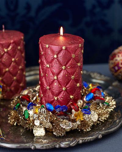Gemstone Glamour Candle Ring