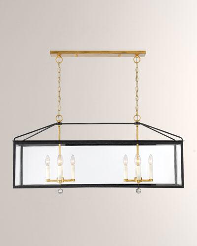 Weston 8-Light Black & Antique Gold Lantern