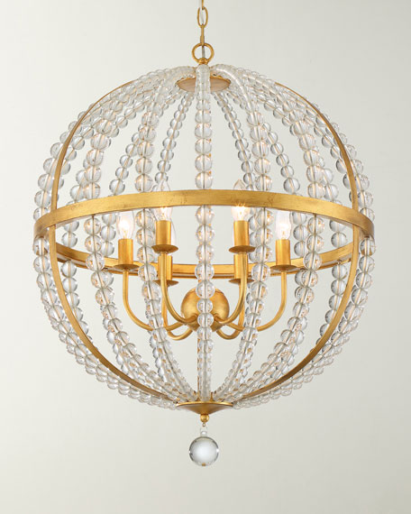 Roxy 6-Light Antique Gold Chandelier