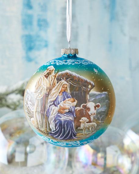 G. Debrekht Holy Night Nativity, Limited Edition Glass