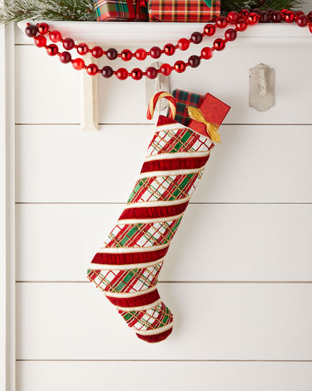 Holiday Stripes Stocking