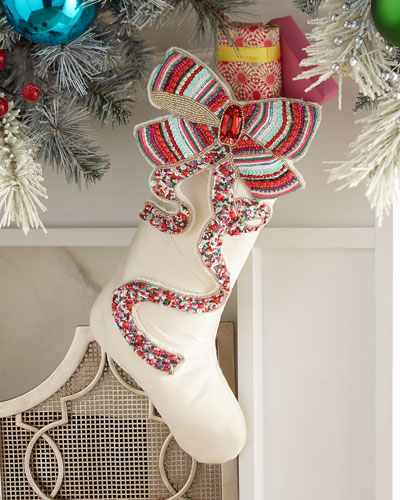 Sweet Holiday Bow Stocking