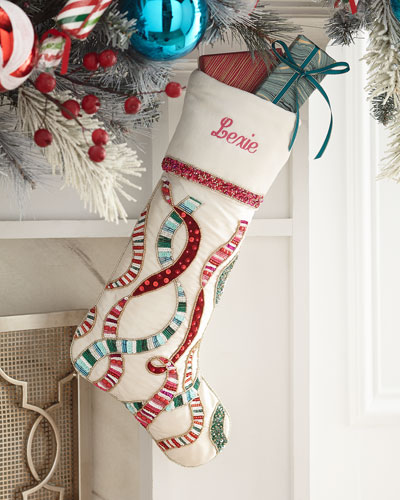 Sweet Holiday Stocking  Personalized