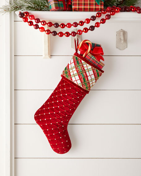 Kim Seybert Holiday Plaid Stocking