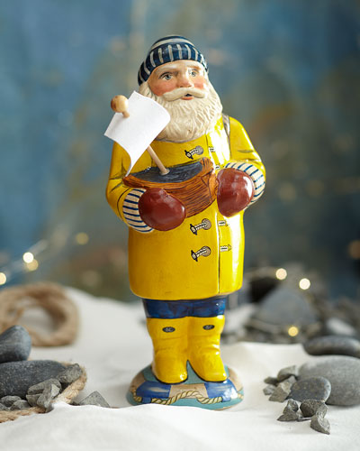 Sea Coast Santa in Yellow Slicker