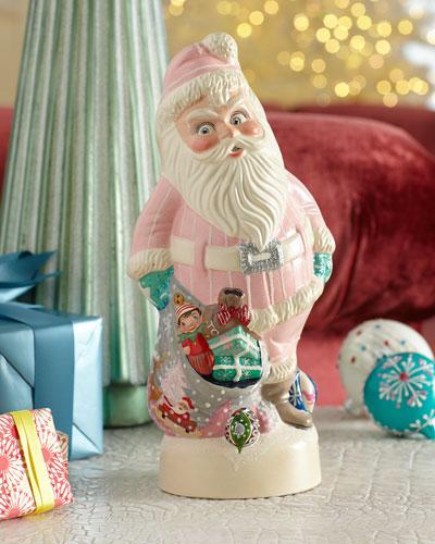 1950s Pink Santa Figurine