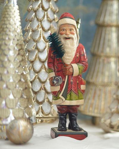 Modern Robb Santa Wearing Driving Gloves