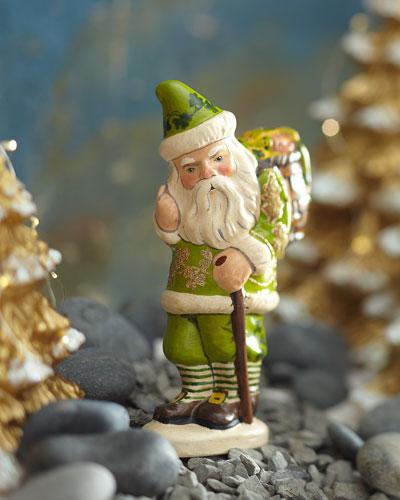 Irish Santa with Basket O' Luck