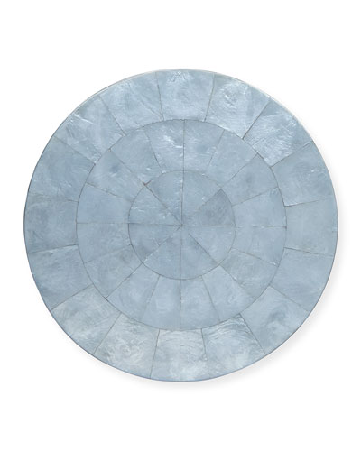 Round Capiz Shell Placemat