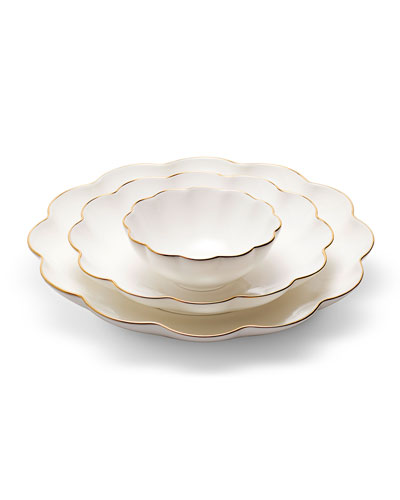 Scalloped Nesting Serving Dishes  Set of 3
