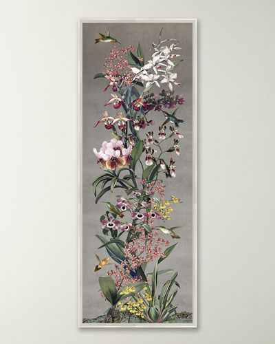 Silver Orchid Panel I Wall Art