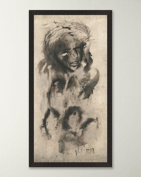 """""""Seated Thinker"""" Giclee Wall Art"""