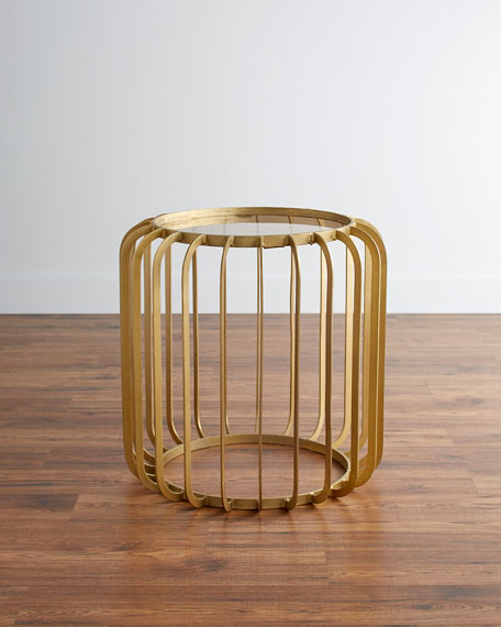 Lux Drum Style Side Table