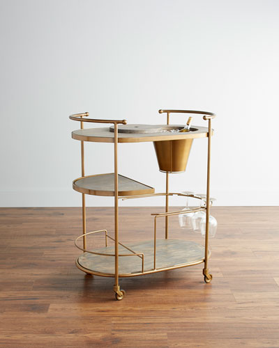 Tamara Art Deco Bar Cart