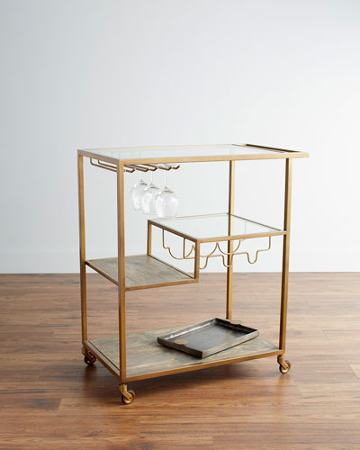 Henri Art Decor Bar Cart