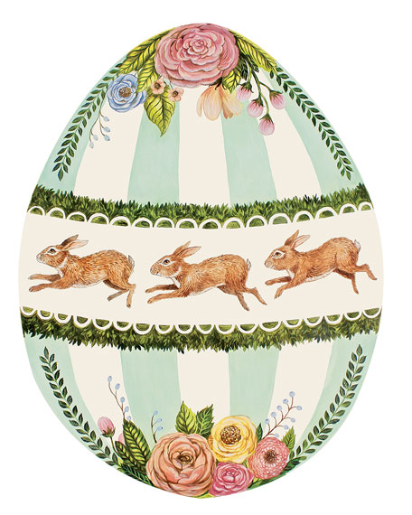 Hester & Cook Boxwood Bunny Egg Placemats
