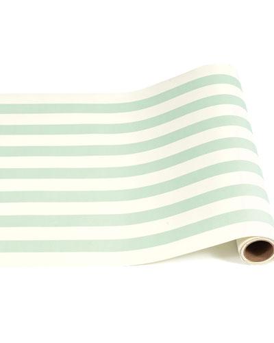 Seafoam Classic Stripe Table Runner