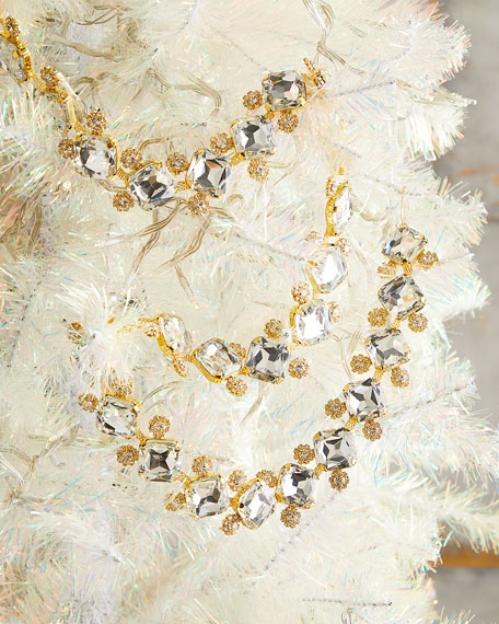 "36"" Princess-Cut Crystal Glass Garland with Jewel Embellishments"