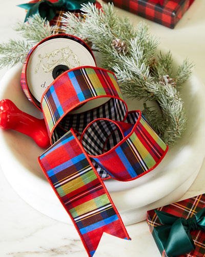 Reversible Tartan & Plaid Ribbon