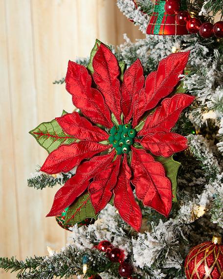 "13"" Large Poinsettia Christmas Ornament"