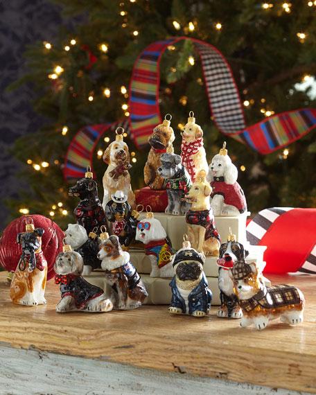 Westie in Tartan Plaid Kilt Christmas Ornament