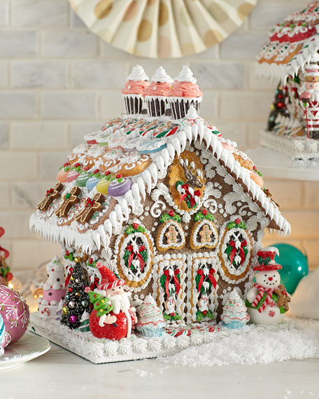 """One-of-a-Kind """"Gingerbread"""" House, Large"""