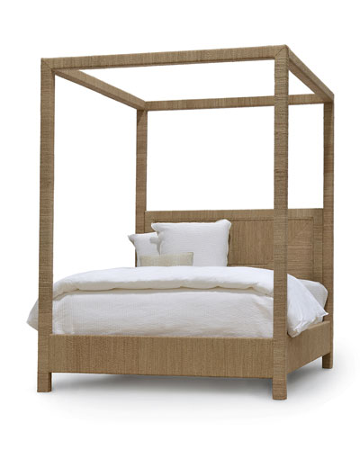 Woodside Canopy California King Bed  Natural