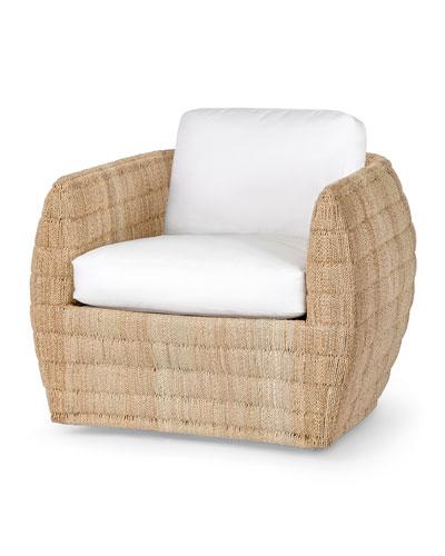 Ventura Swivel Lounge Chair  Textured Snow