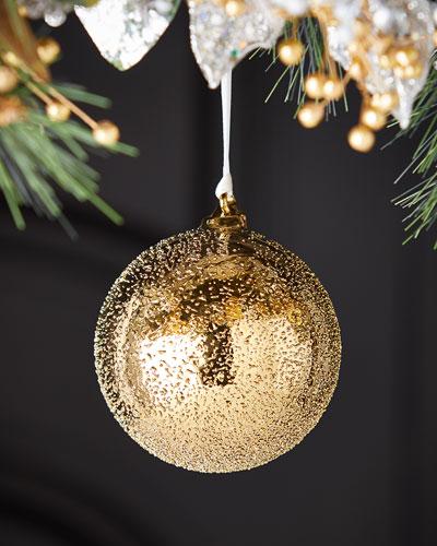 100mm Glass Beaded Ball Christmas Ornament