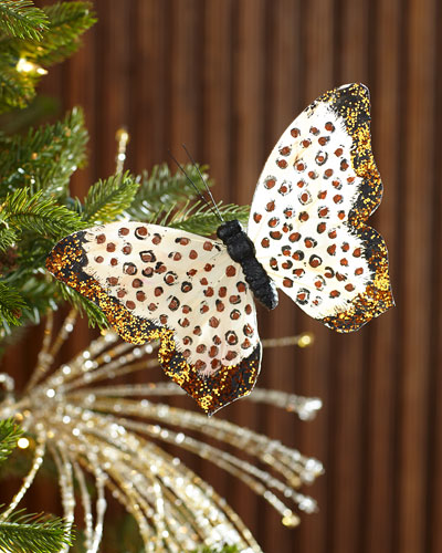 Leopard Print Butterfly Ornament