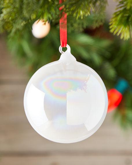 Jim Marvin 100mm Pearl Glass Ball Christmas Ornament