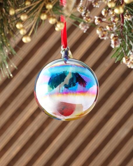 Jim Marvin 100mm Marble Ball Iridescent Christmas Ornament