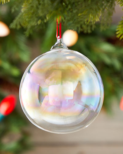 120mm Iridescent Glass Ball Ornament with Hook