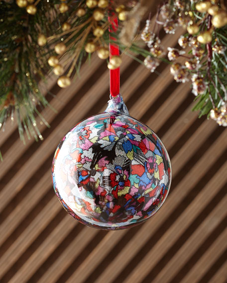Jim Marvin 120mm Glass Glitter Moire Ball Christmas