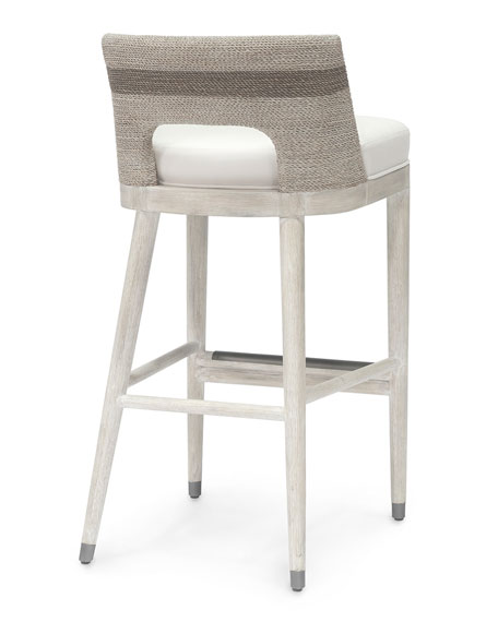 Fritz Fog White Bar Stool
