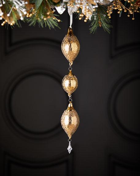 """3-Tiered Teardrop Hanger Ornament - 19"""""""