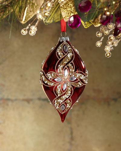 Jewel Finial Christmas Ornament