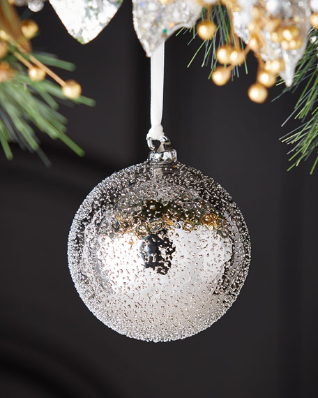 100mm Glass Beaded Ball Christmas Ornament
