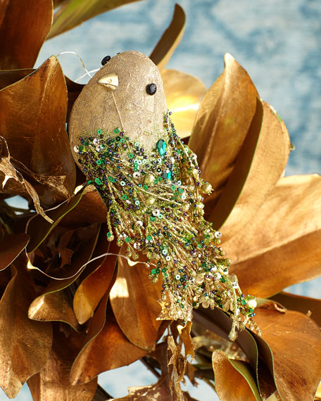 "7"" Bird Christmas Ornament"