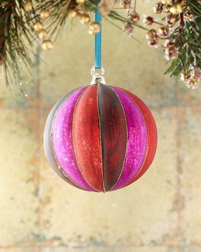 120mm Glass Ribbed Ball Christmas Ornament