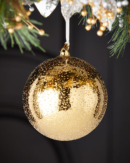 Jim Marvin 150mm Glass Beaded Ball Christmas Ornament