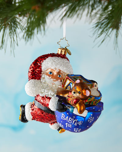 Hurry Santa It's Baby's First Christmas Ornament