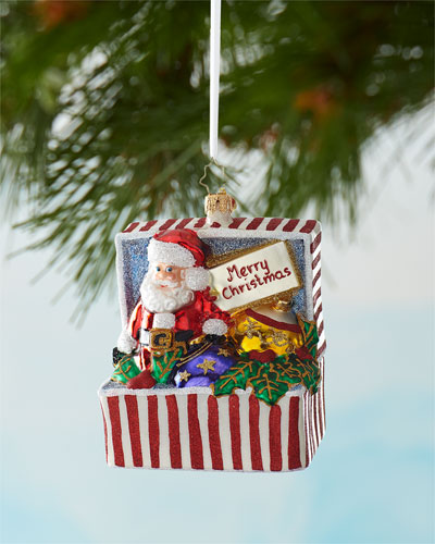 Out Of The Box Santa Christmas Ornament