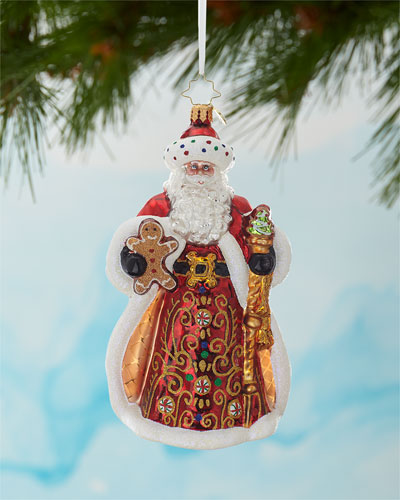 King Of Sweets Santa Christmas Ornament