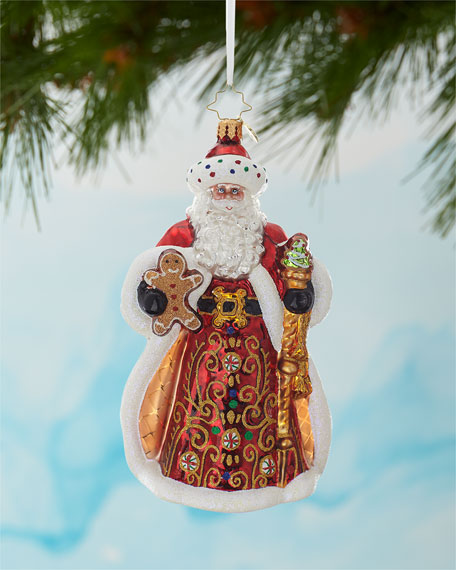Christopher Radko King Of Sweets Santa Christmas Ornament