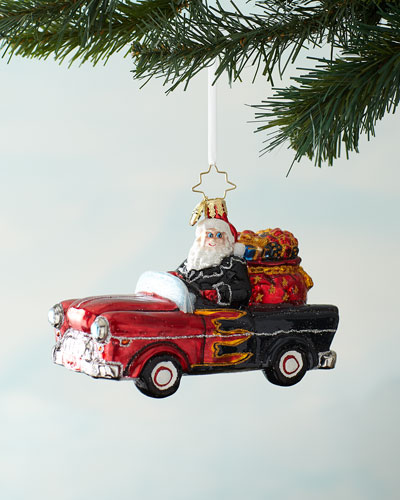 Speeding Into Christmas Ornament
