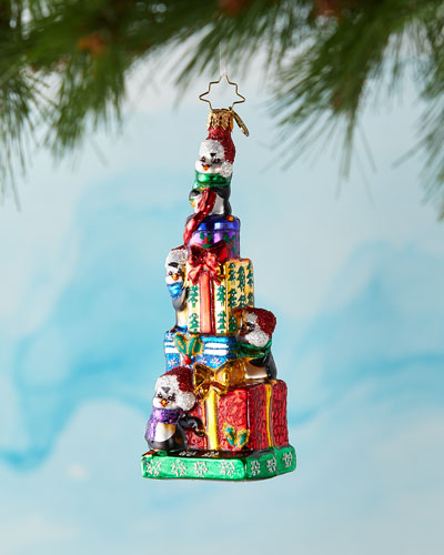 Waddling To The Top Christmas Ornament