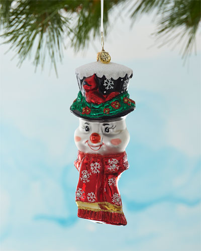 A Snowman Worth Flocking To Christmas Ornament